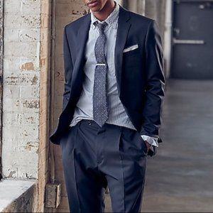 J Crew Ludlow Slim-fit suit jacket in Navy Blue